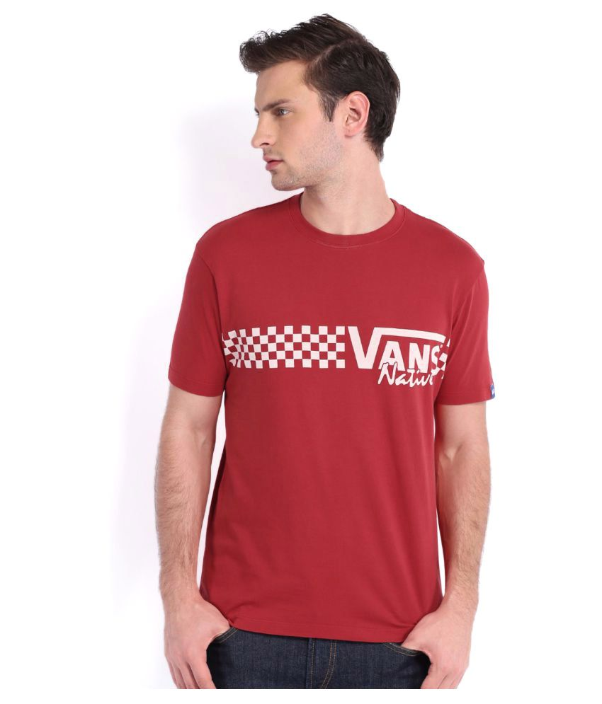 Vans Red Cotton T-Shirt Single Pack