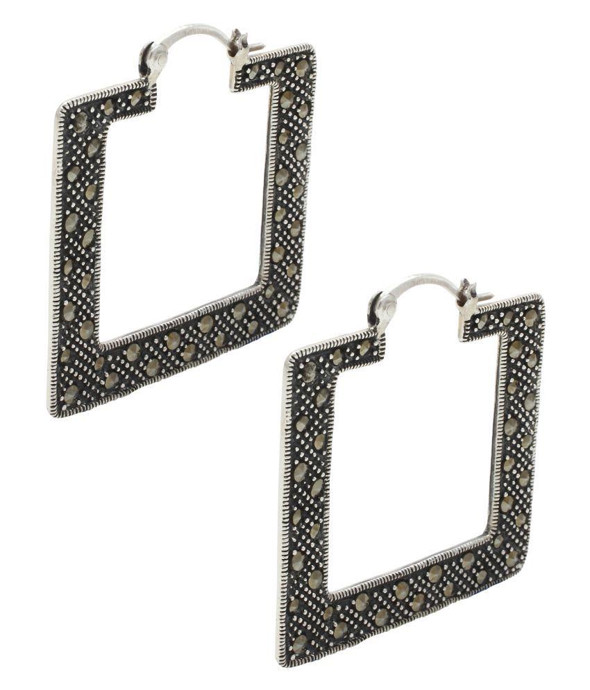 Sea Jewels 92.5 Silver Cubic zirconia Hoop