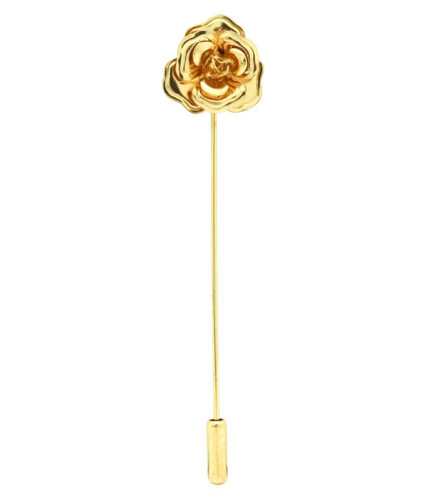 The Tie Hub 3D Gold Rose Lapel Pin