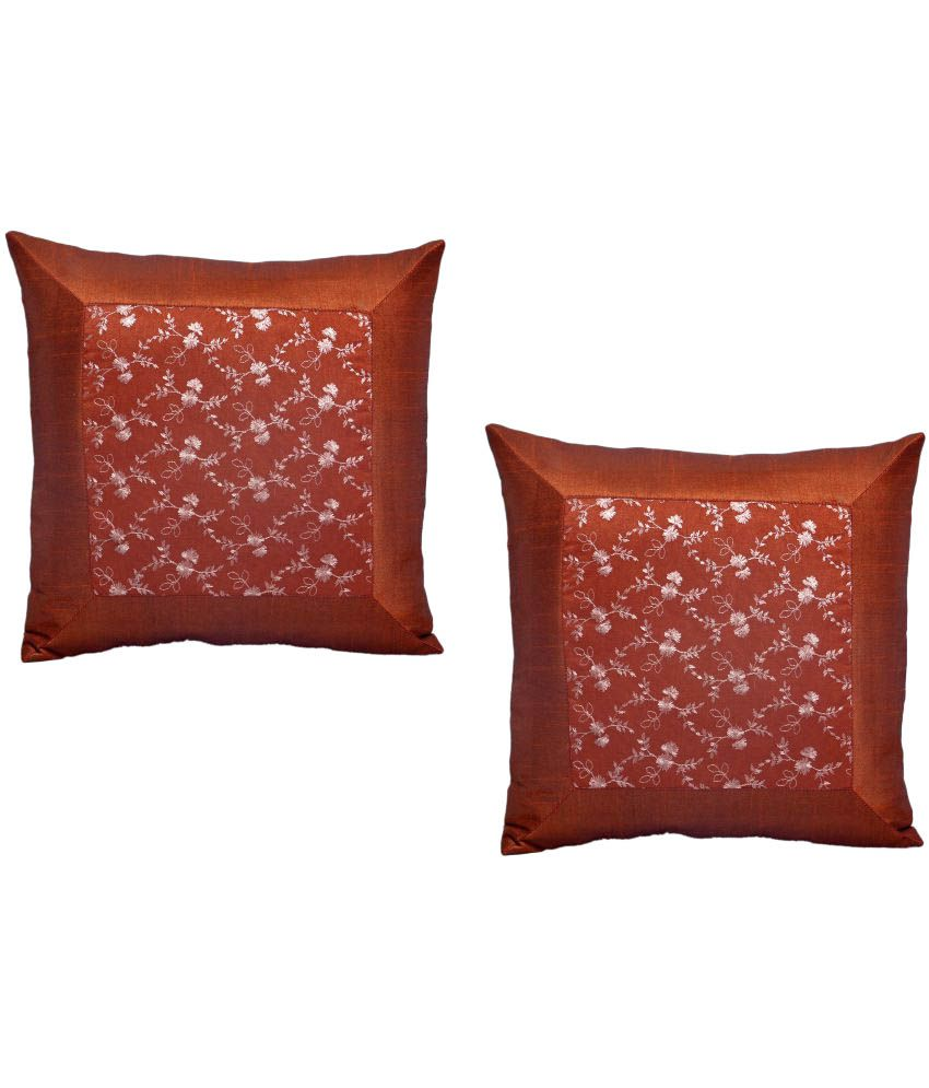 Home Royal Set of 2 Polyester Cushion Covers 40X40 cm (16X16)