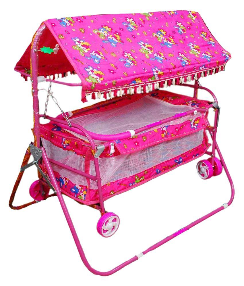Shivaay Trading Co.Pink Baby Bassinet