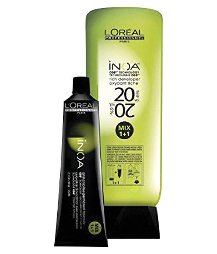 L\'Oreal INOA No. 5.3 With 6% 20Vol INOA Deeveloper Permanent Hair ...