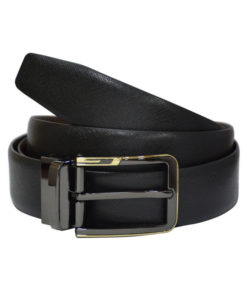 Rene Black Leather Formal Belts