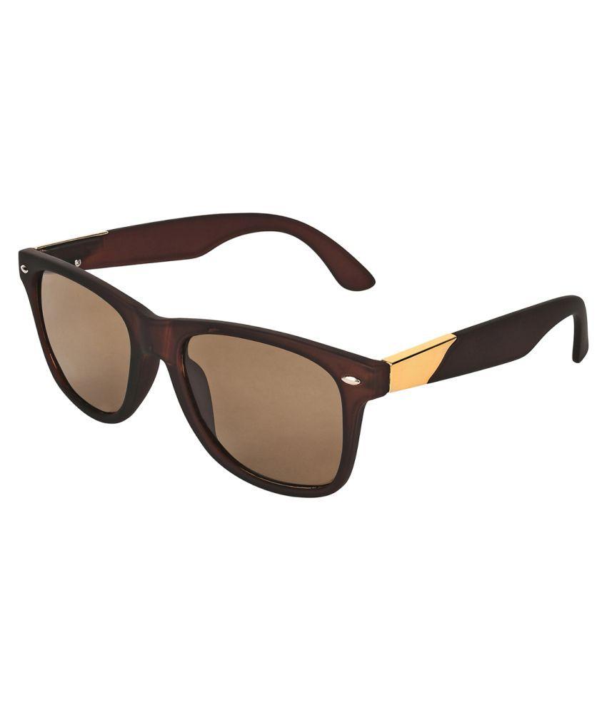 Zyaden Brown Wayfarer Sunglasses ( Way-29 )