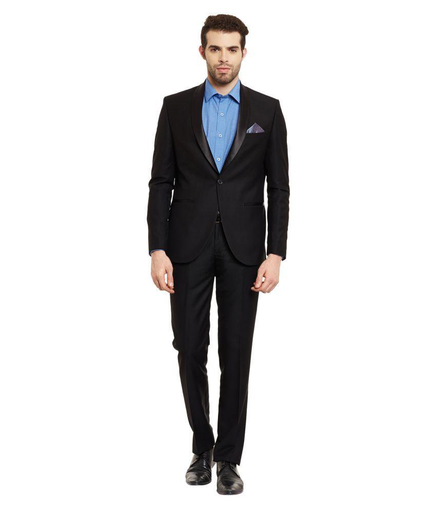 Envoy Black Plain Formal Suit
