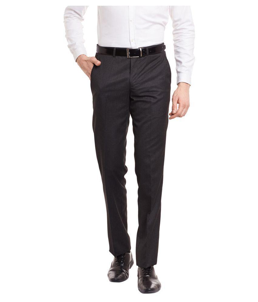 Envoy Brown Slim Flat Trousers