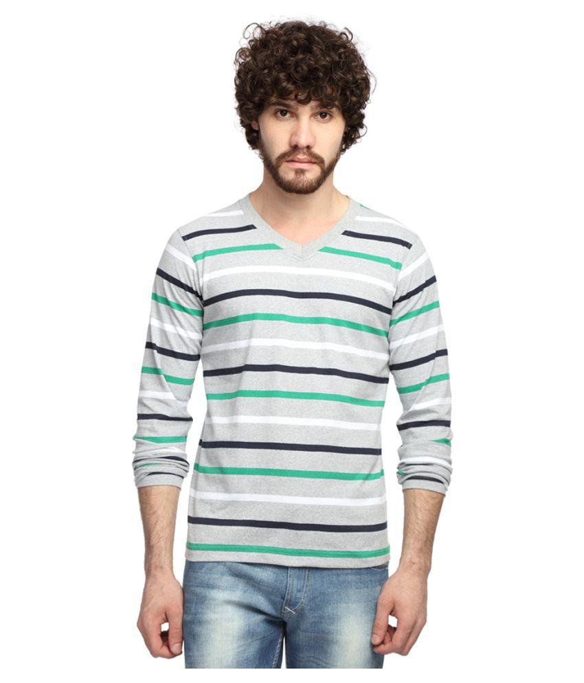 Goodtry Grey V-Neck T-Shirt