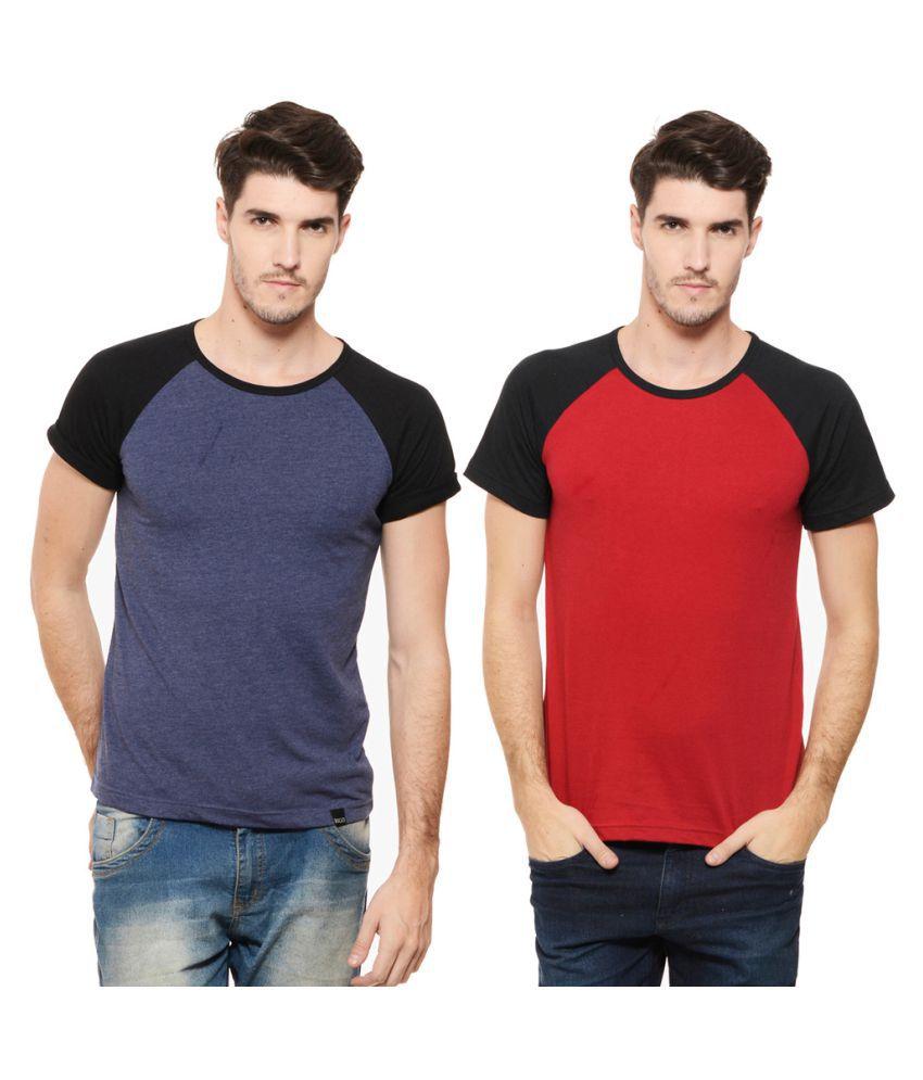 Rigo Multi Round T-Shirt Pack of 2