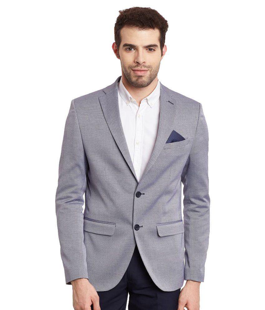 Envoy Grey Plain Casual Blazers