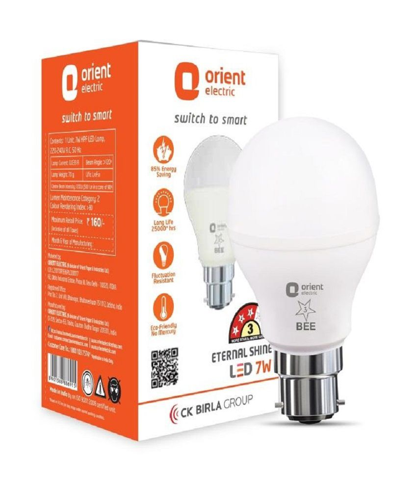Orient 7W Pack Of 3 LED Bulbs Available At SnapDeal For Rs399