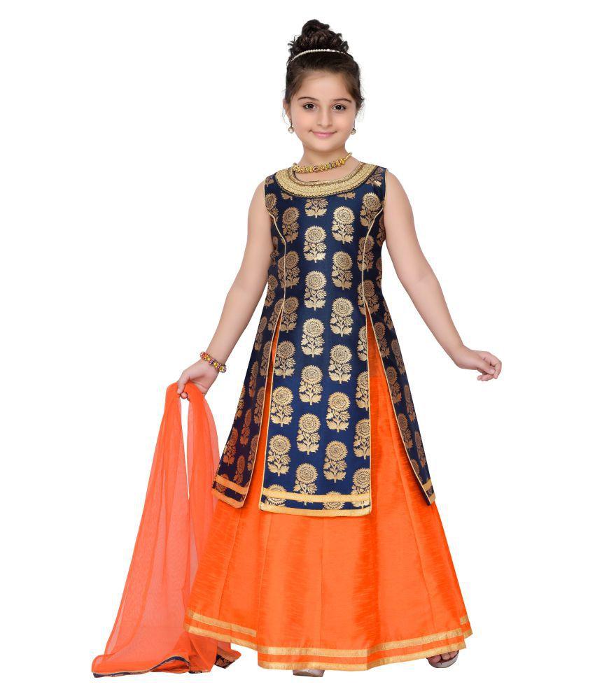 adiva girl's party wear lehenga choli set for kids - buy adiva