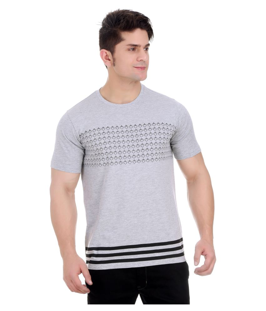 Girggit Grey Round T-Shirt
