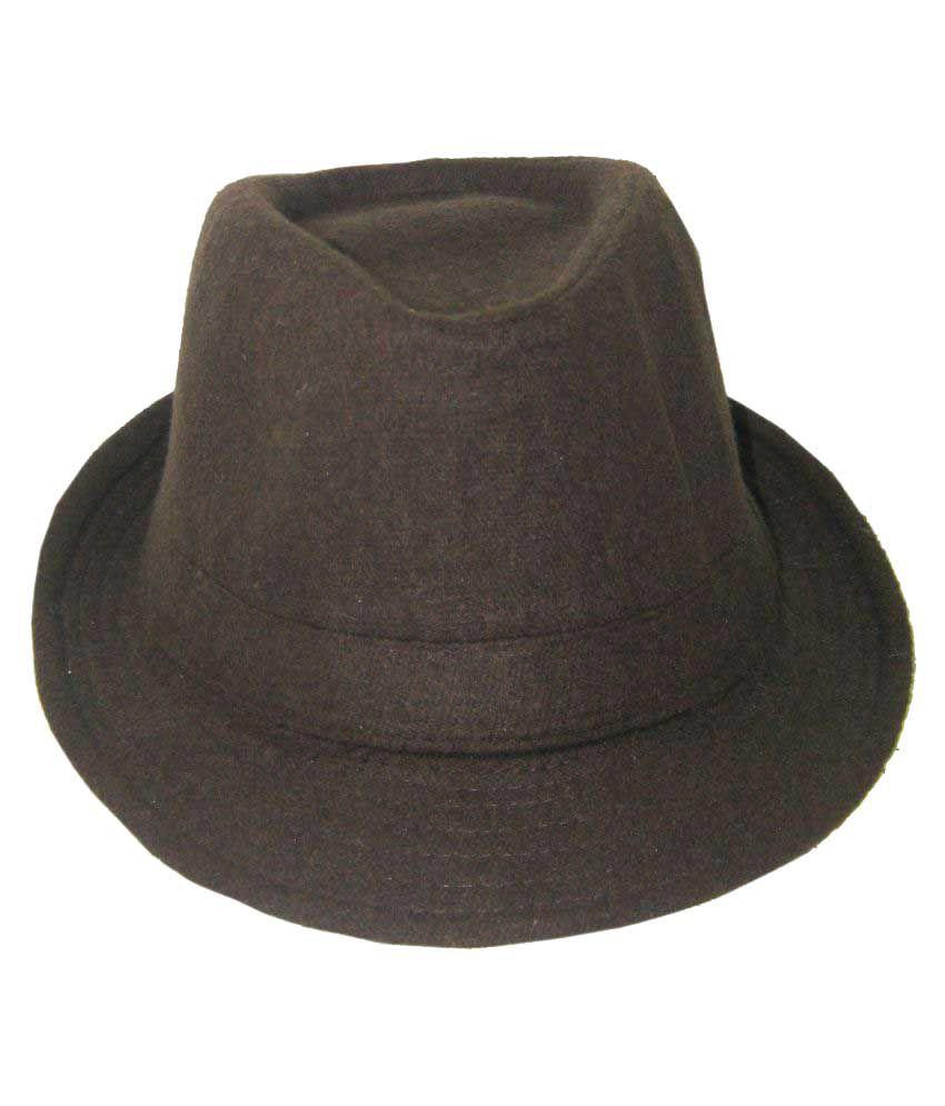 Goodluck Brown Wool Hats