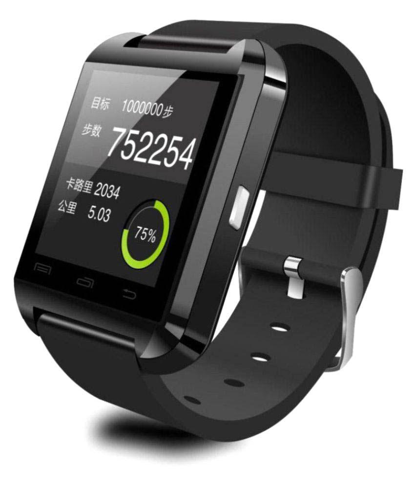 Ibs U8 Smart Watch Black Smartwatch (Black Strap) Smart Watches Black