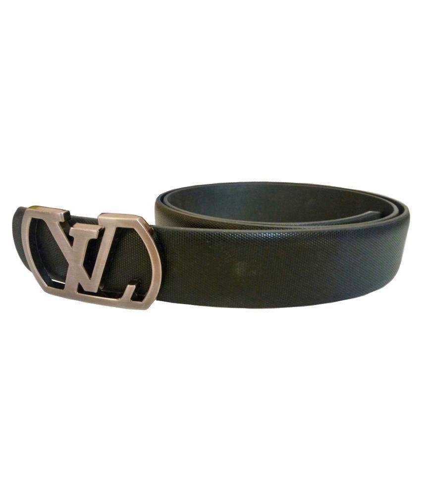 Rabbit Black Leather Formal Belts