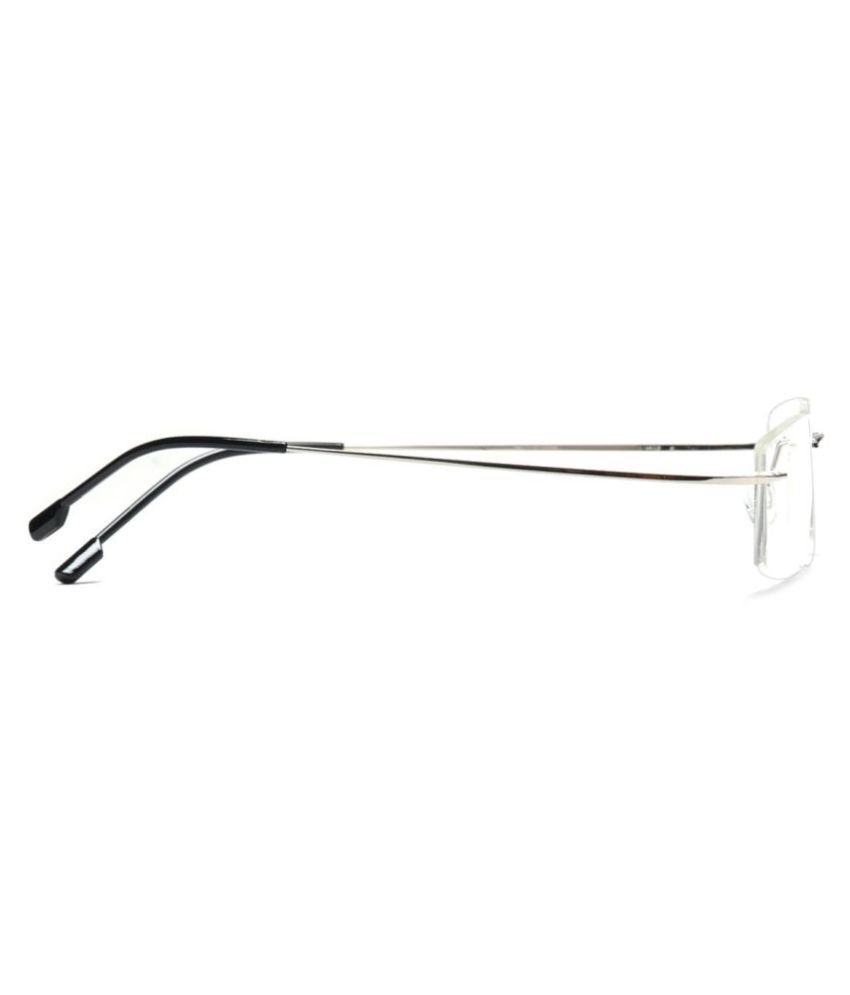 22694d12e8b MagJons Silver Rectangle Spectacle Frame Flexible lightweight MagJons  Silver Rectangle Spectacle Frame Flexible lightweight ...