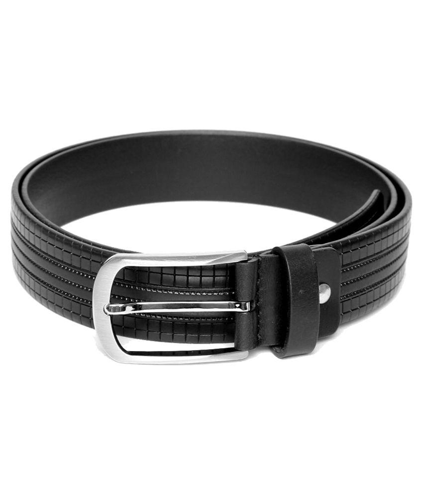 Mane Beretta Black Leather Formal Belts