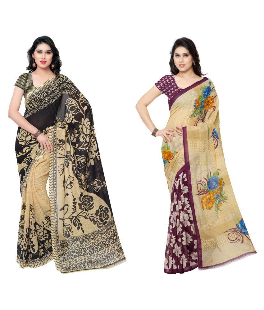 Kashvi Sarees Multicoloured Cotton Saree Combos