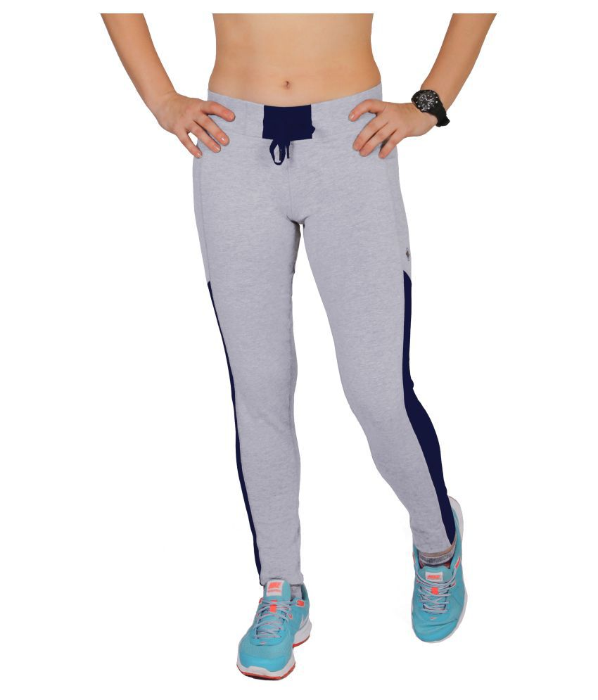 Restless Grey Blue Cotton Trackpant