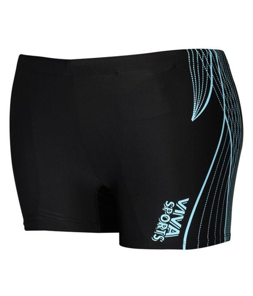 Viva Sports Black Swimming Trunk/ Swimming Costume