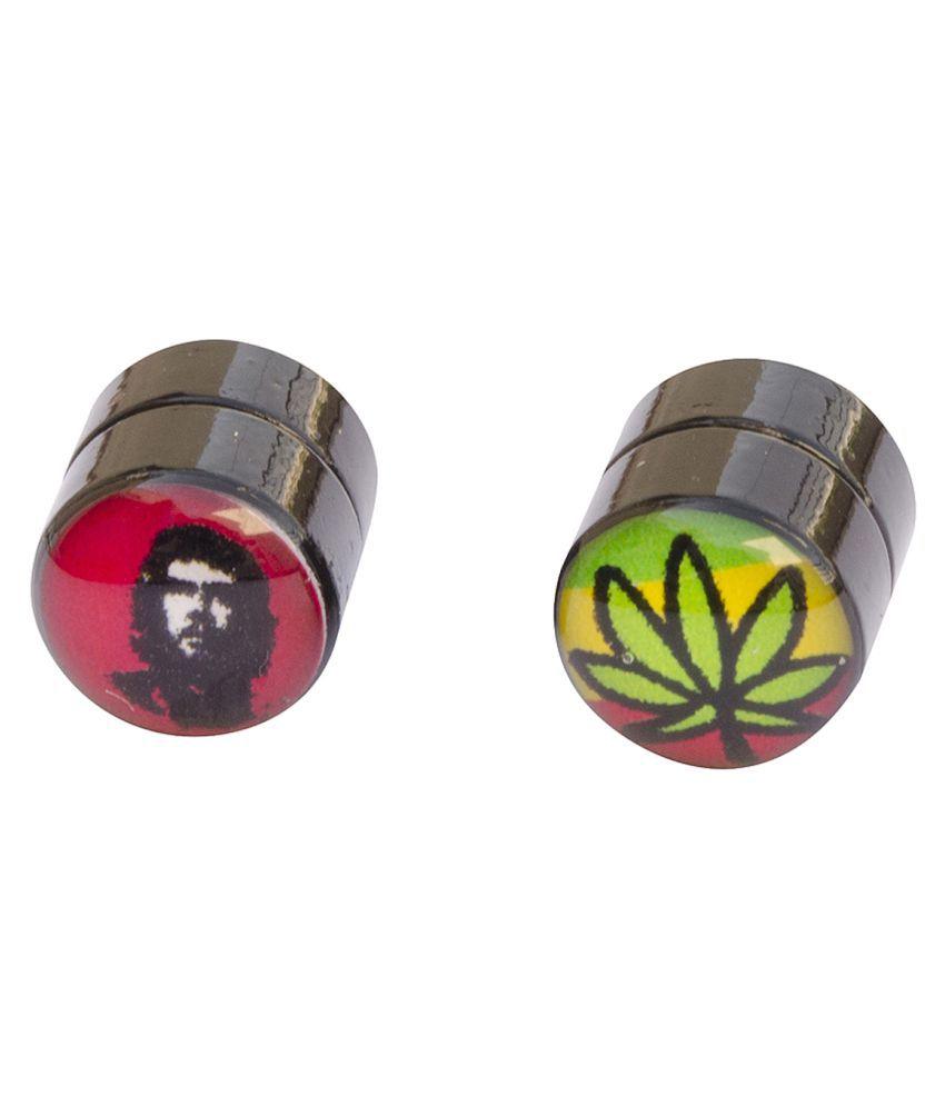 Foppish Mart Multicoloured Stud Earrings
