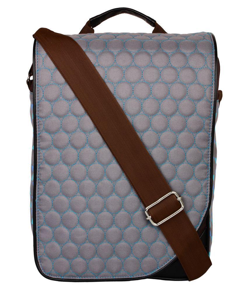 Anekaant Gray Polyster Sling Bag