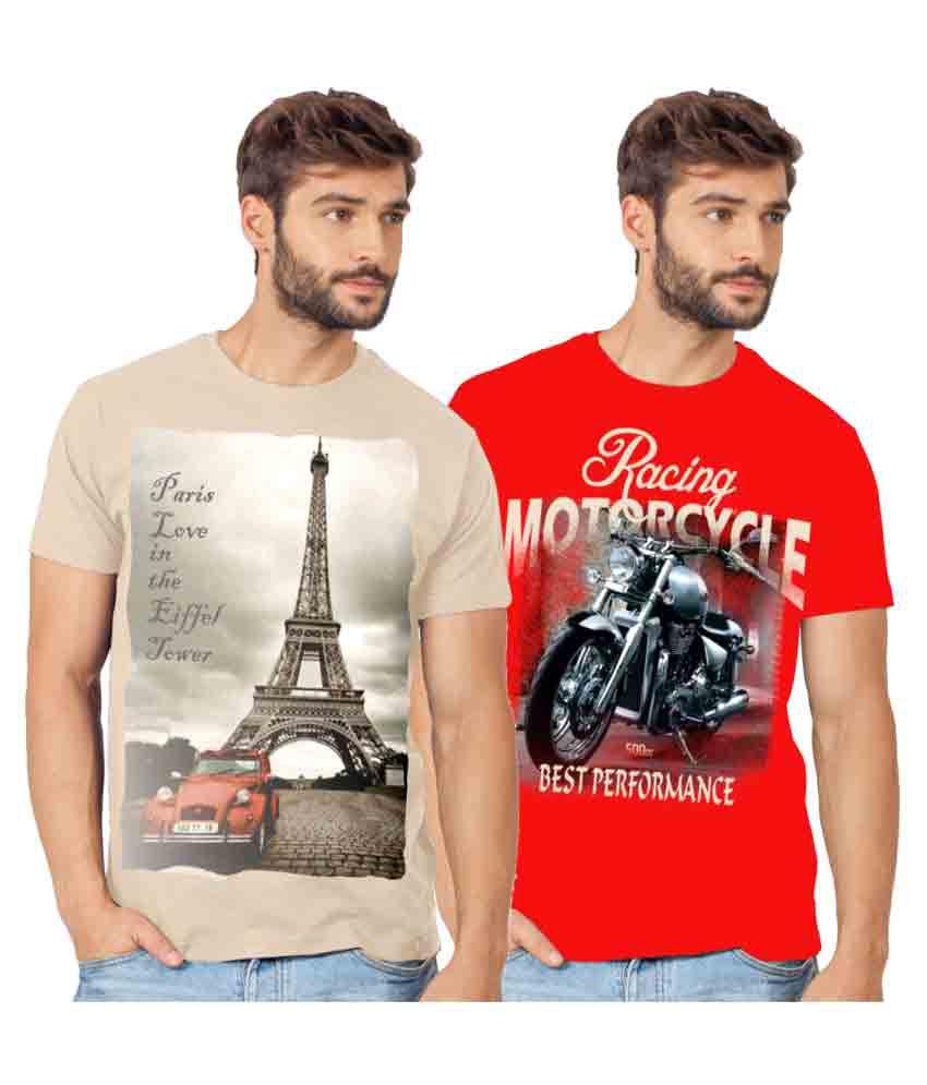 Ecott Multi Round T-Shirt Pack of 2