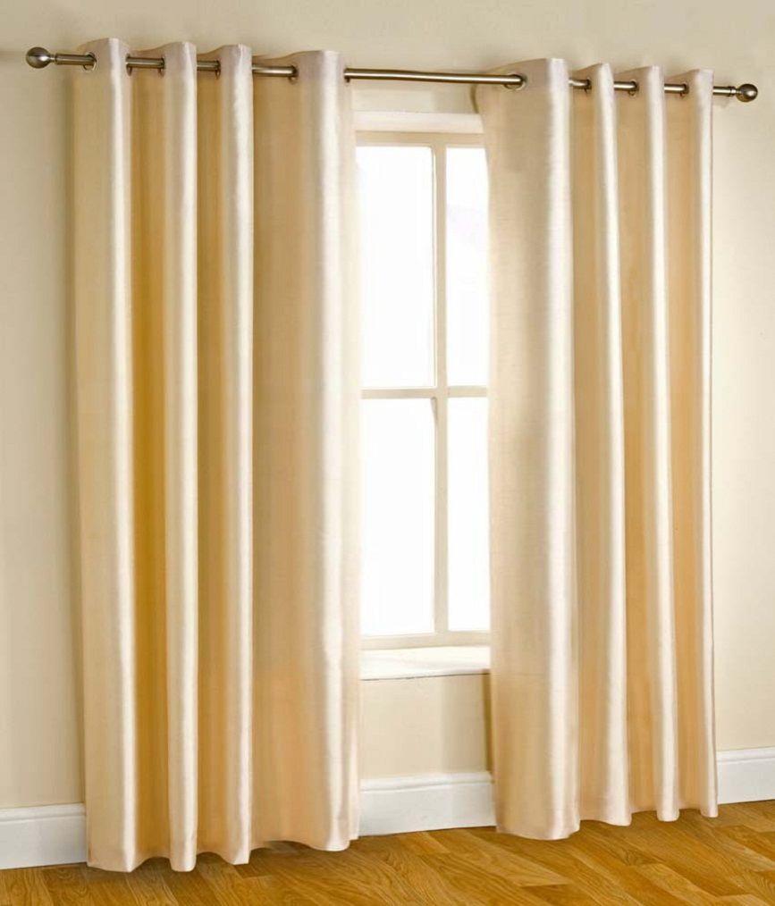 Tanishka Fabs Set of 2 Door Eyelet Curtains Floral Beige