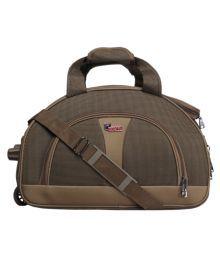 F Gear Khaki Solid Duffle Bag