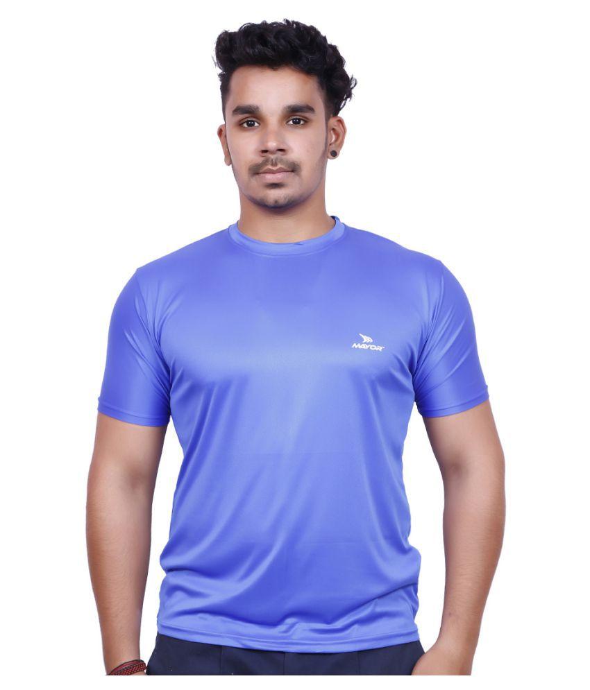 Mayor Blue Polyester T Shirt