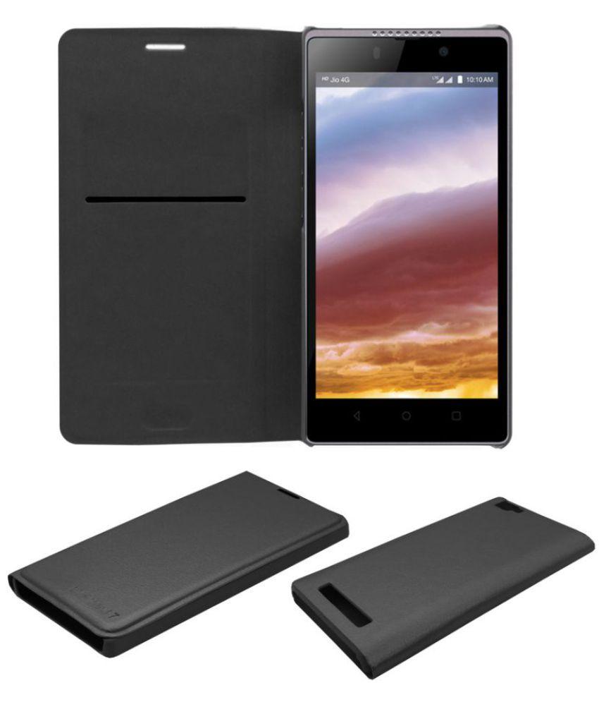 Lava X50 Flip Cover by Prego - Black