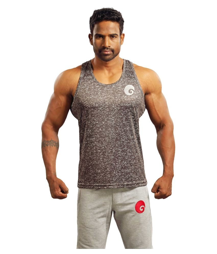 Omtex Brown Sublimated Gym Tank
