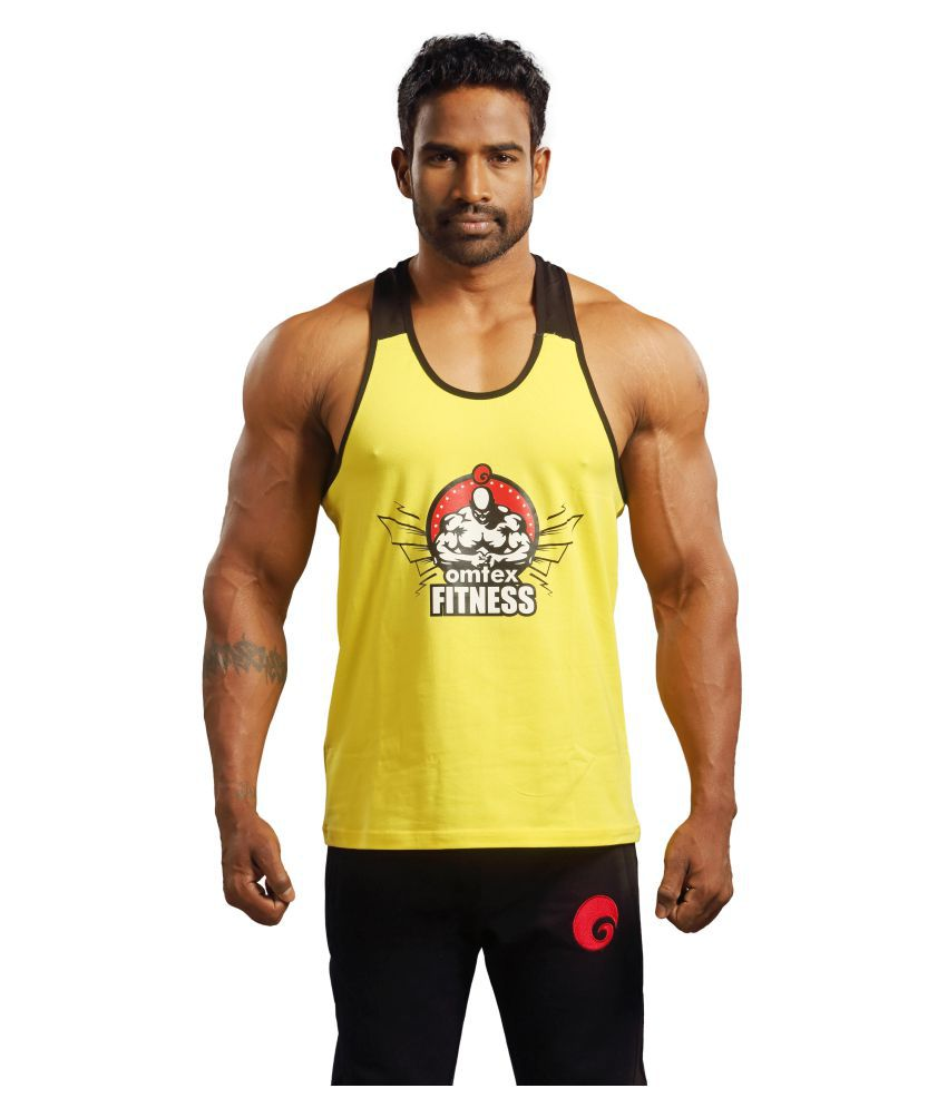 Omtex Yellow Cotton Gym Stringers