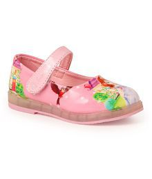 N Five Flat Round Toe Pink Belly Shoes for Girls