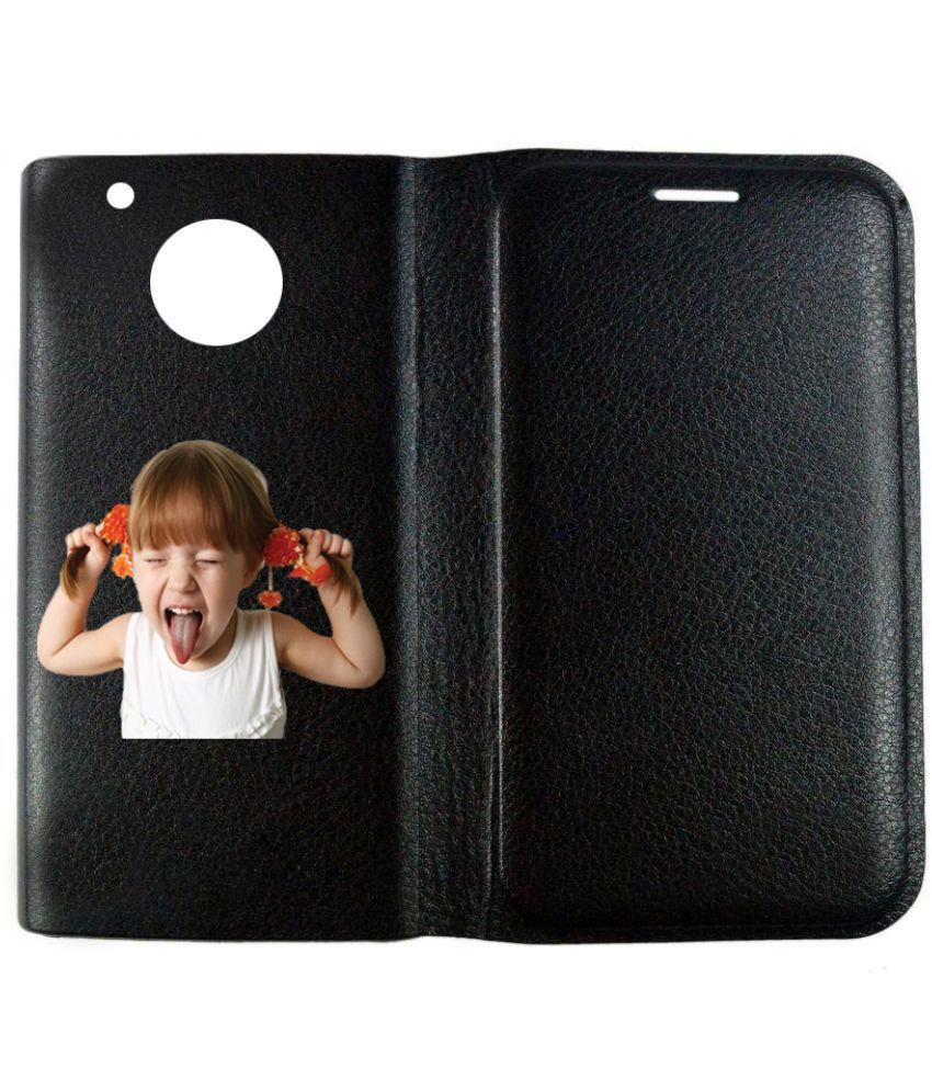 Moto G5 Plus Flip Cover by BuyFeb - Black