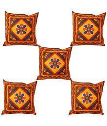 Stop N Shop Multicolour Cotton Cushion Covers (Set Of 5)