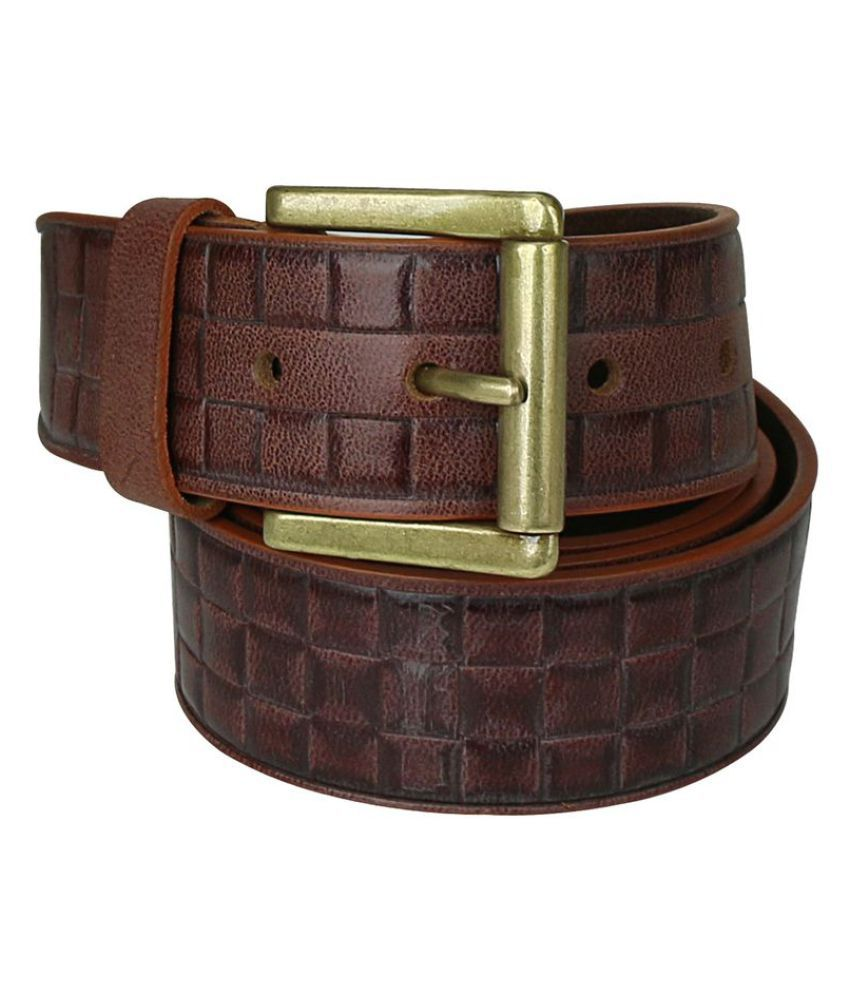 Stoss Brown Leather Formal Belts