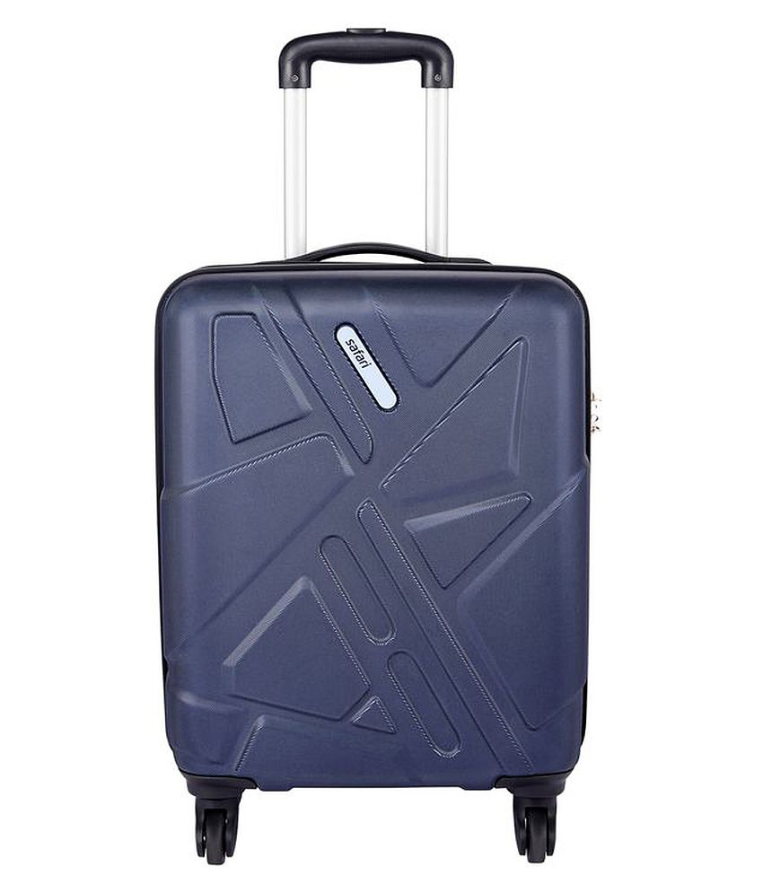 Safari Traffik-Anti Scratch Purple 4 Wheel Hard Luggage-Size Small (Below 60 Cm)
