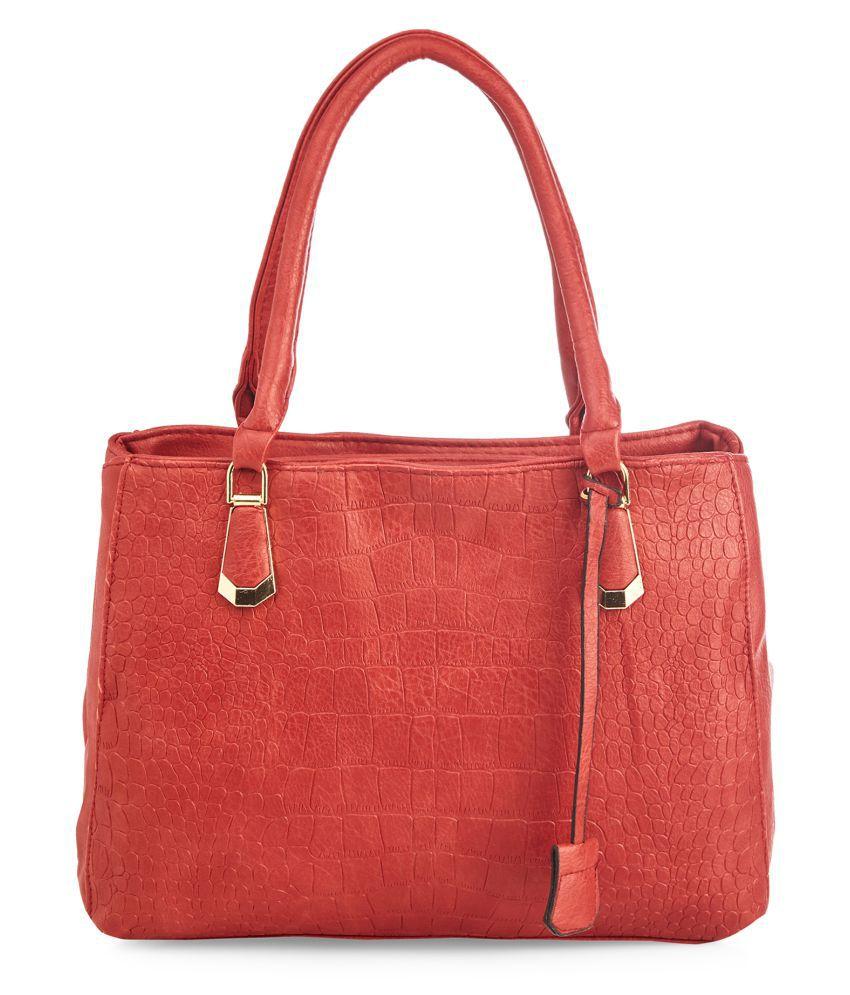 Vero Couture Red P.U. Shoulder Bag