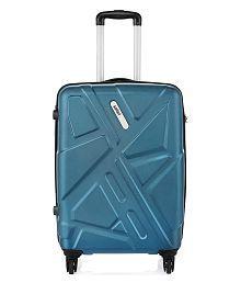 Safari Traffik-Anti Scratch Teal 4 Wheel Hard Luggage-Size Large (Above 70 Cm)