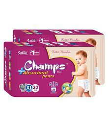Champs High Absorbent Pant Style Diaper Extra Large (32 pieces) - Set of 2