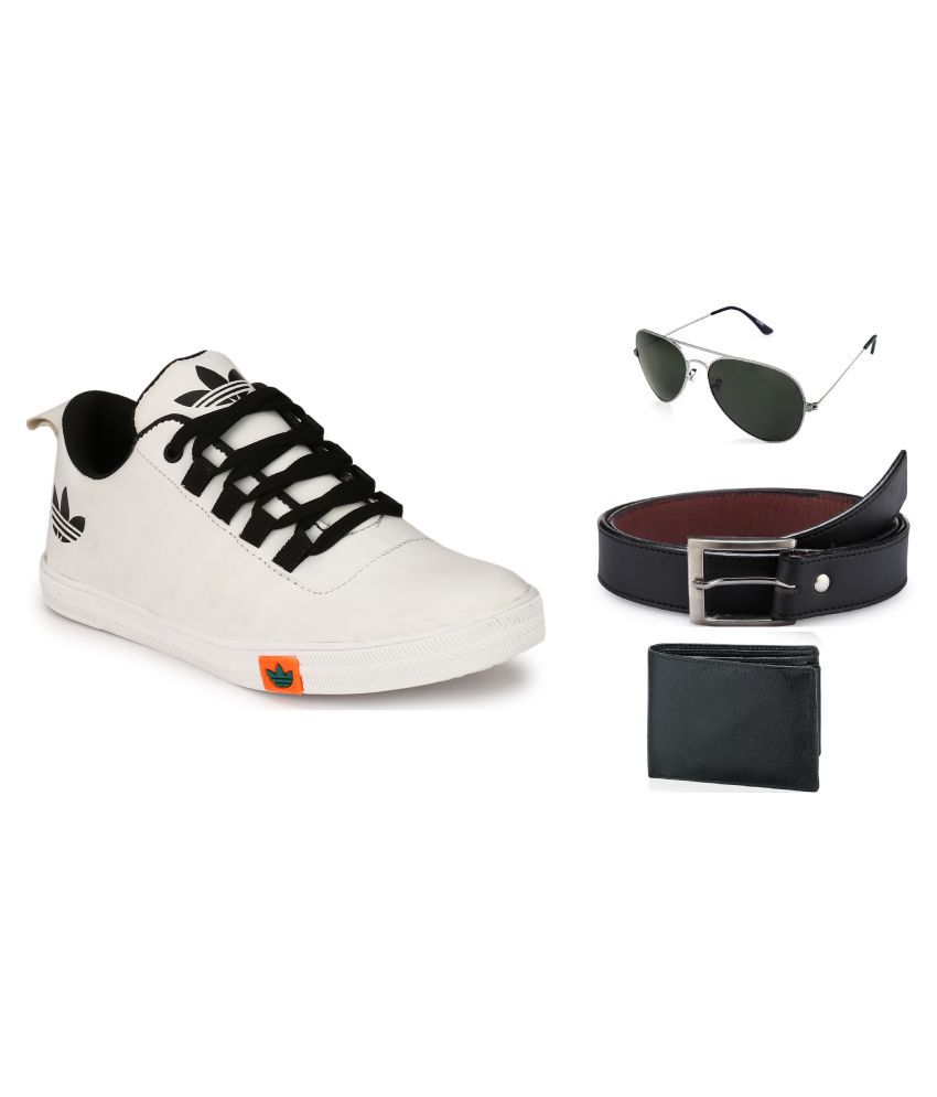 Lavista White Casual Shoe Combo