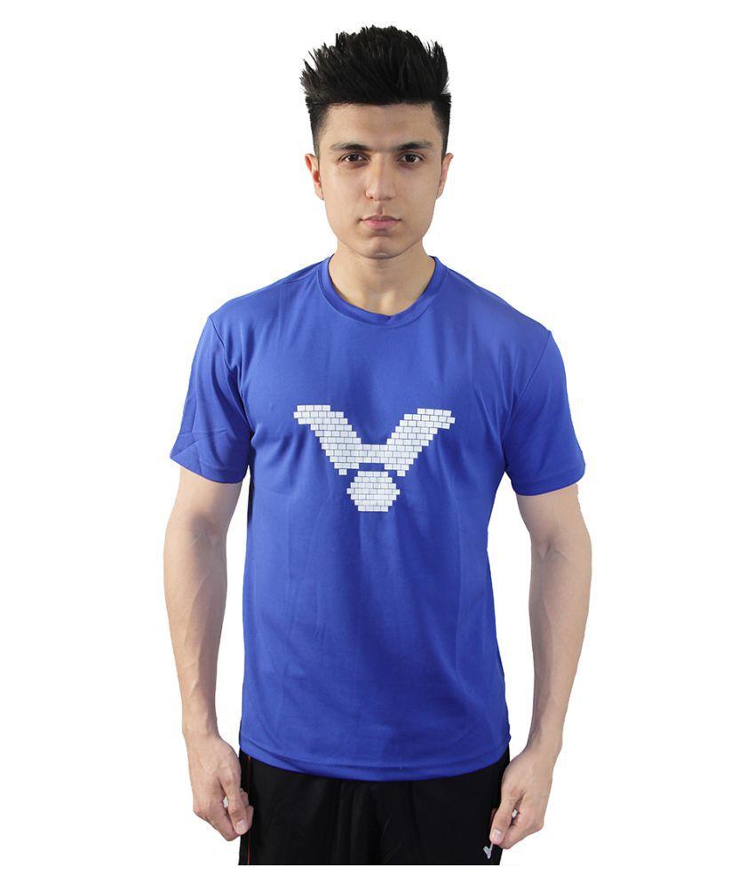 Victor Blue Cotton T Shirt