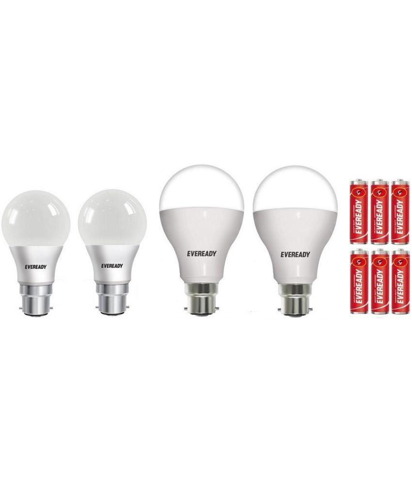 Eveready 7W,9W,12W,14W LED Bulbs Cool Day Light - BHK Combo