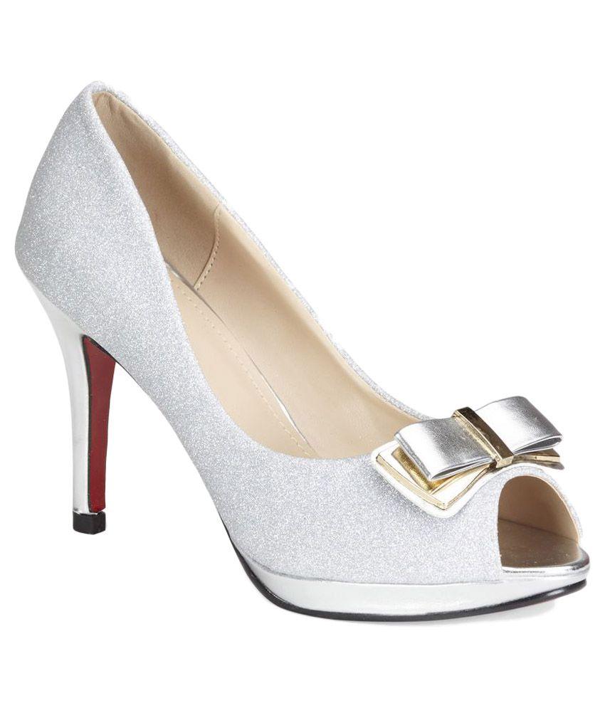 Vero Couture Silver Stiletto Heels