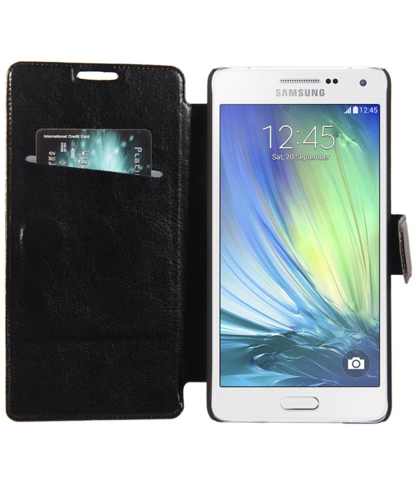 Samsung Galaxy A5 Flip Cover by CUBIX - Black