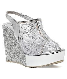 Bruno Manetti Silver Wedges Heels