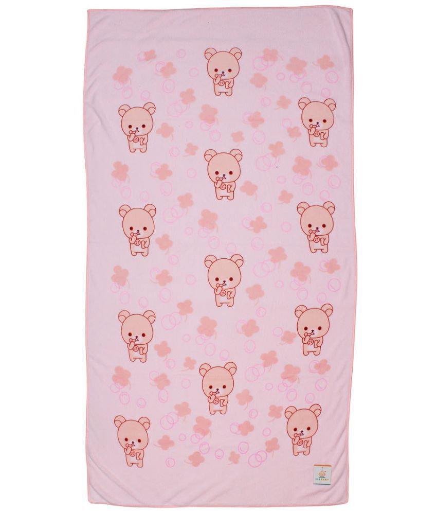 Ole Baby Pink Cotton Bath Towels