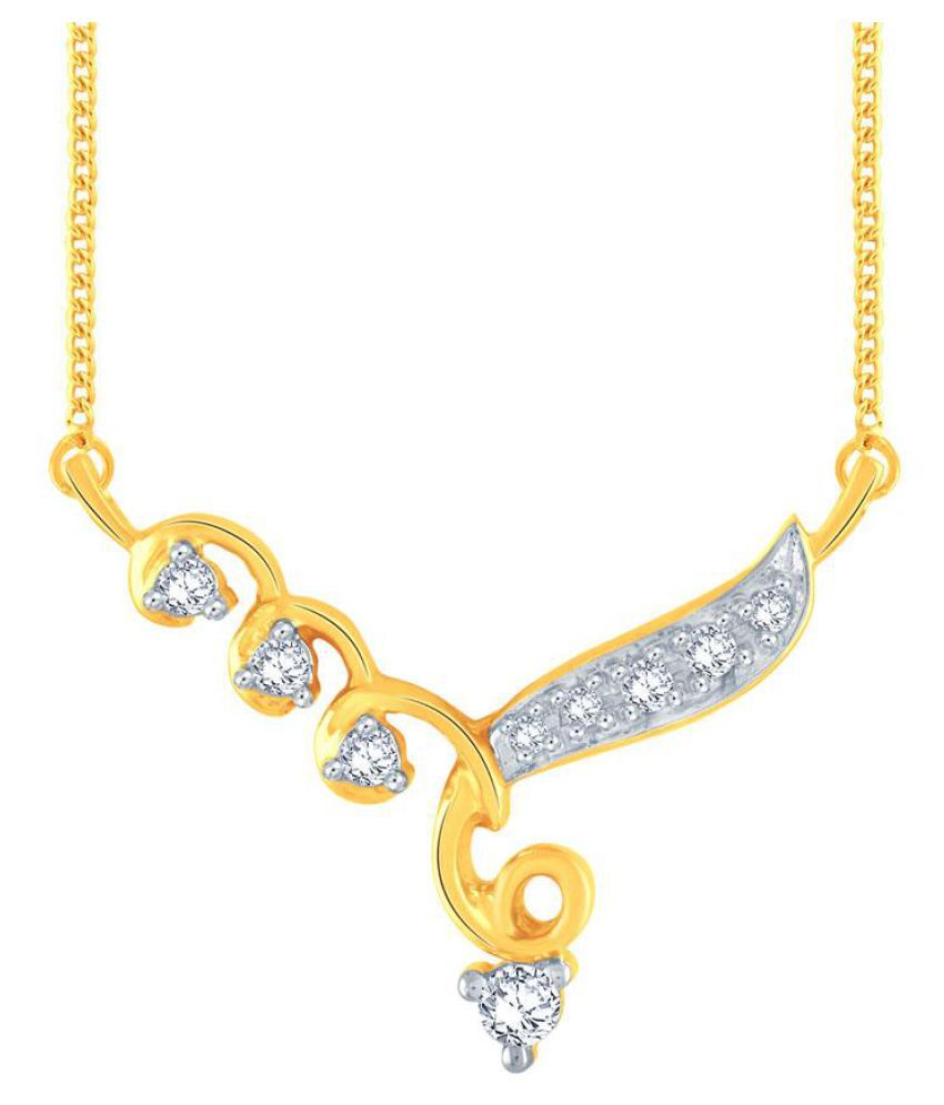 Me-Solitaire 18k Yellow Gold Diamond Mangalsutra