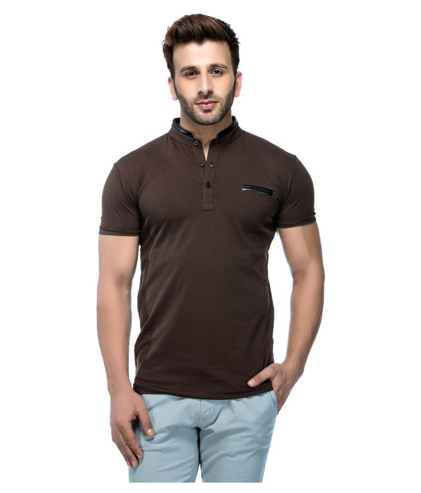Tinted Brown Henley T-Shirt